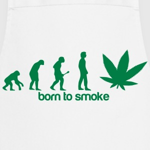 Weed Evolution -Born to smoke T-Shirts - Cooking Apron