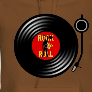 Rock 'n' Roll record player Tee shirts - Sweat-shirt à capuche Premium pour femmes