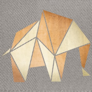 Origami: Elefant (Pergament-Optik) T-shirts - Snapback Cap