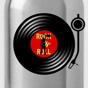 Rock 'n' Roll record player T-Shirts - Water Bottle
