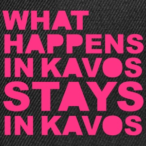What Happens In Kavos T-skjorter - Snapback-caps