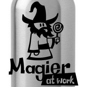 Mage at work - black glitter - Trinkflasche