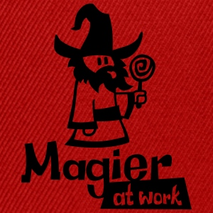 Mage at work - black glitter - Snapback Cap