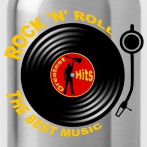 Rock 'n' Roll record player 04 T-Shirts - Water Bottle