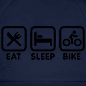 Eat sleep bike T-shirts - Baseballcap