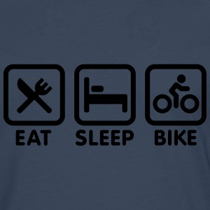 Eat sleep bike T-shirts - Mannen Premium shirt met lange mouwen