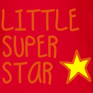 LITTLE SUPER STAR (Version2) T-Shirts - Baby Bio-Kurzarm-Body