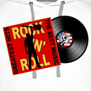ROCK 'N' ROLL the best music Tee shirts - Sweat-shirt à capuche Premium pour hommes