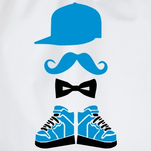 snapback hitops moustache bowtie T-Shirts - Drawstring Bag