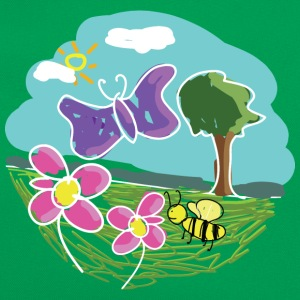 Butterfly & Bee T-Shirts - Retro Tasche