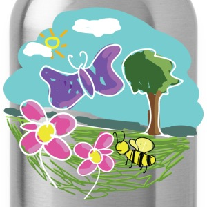 Butterfly & Bee T-Shirts - Trinkflasche