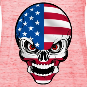 United States skull Shirts - Women's Tank Top by Bella