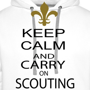 keep calm and carry on scouting - Männer Premium Hoodie