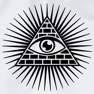 all seeing eye -  eye of god / pyramid - symbol of Omniscience & Supreme Being Camisetas - Mochila saco