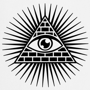 all seeing eye -  eye of god / pyramid - symbol of Omniscience & Supreme Being T-shirts - Forklæde