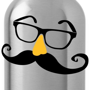 Mustache glasses with nose  T-Shirts - Water Bottle