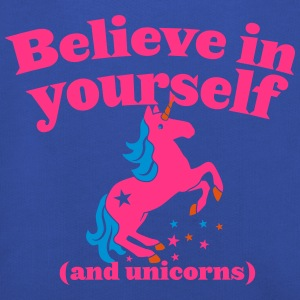 Believe in yourself (and UNICORNS) plain Shirts - Kids' Premium Hoodie