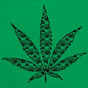feuille de cannabis Tee shirts - Sac Retro