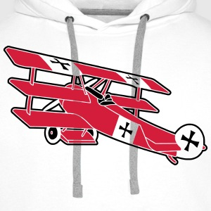 Fokker Roter Baron Red Air Combat First World War  Camisetas - Sudadera con capucha premium para hombre
