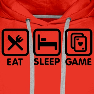 Eat - Sleep - Game poker T-shirts - Mannen Premium hoodie