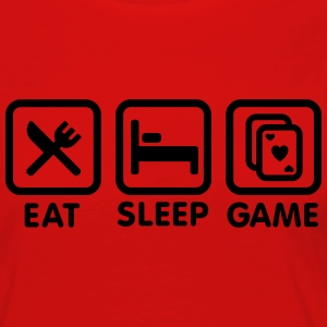 Eat - Sleep - Game poker T-shirts - Vrouwen Premium shirt met lange mouwen