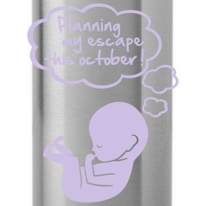 planning my escape this october T-Shirts - Water Bottle