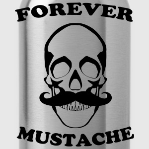 Forever mustache Tee shirts - Gourde