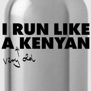 I Run Like A (Very Old) Kenyan T-Shirts - Water Bottle