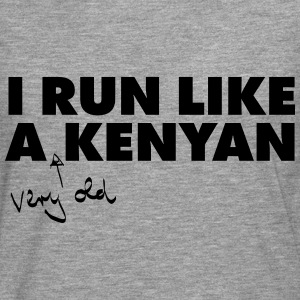 I Run Like A (Very Old) Kenyan T-shirts - Herre premium T-shirt med lange ærmer