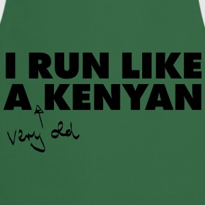 I Run Like A (Very Old) Kenyan T-Shirts - Cooking Apron
