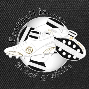 Football is black and white soccer Shirts - Snapback Cap