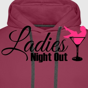 ladies night out Camisetas - Sudadera con capucha premium para hombre