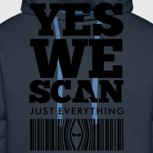 Navy YES WE SCAN T-shirts - Mannen Premium hoodie