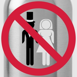 No Marriage T-Shirts - Water Bottle