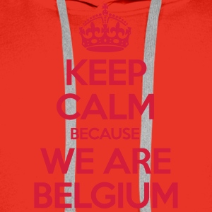 Keep Calm Because We Are Belgium Tee shirts - Sweat-shirt à capuche Premium pour hommes