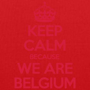 Keep Calm Because We Are Belgium Tee shirts - Tote Bag