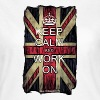 Keep Calm and Work On - Comicstyle T-Shirts - Frauen T-Shirt