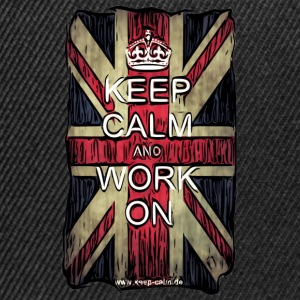 Keep Calm and Work On - Comicstyle T-Shirts - Snapback Cap