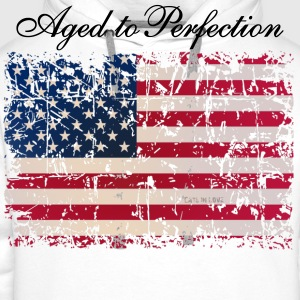 Aged to Perfection / USA Flag - Männer Premium Hoodie