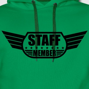 Staff Member Design T-Shirts - Men's Premium Hoodie
