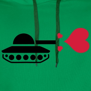 Tank Love Heart T-Shirts - Men's Premium Hoodie