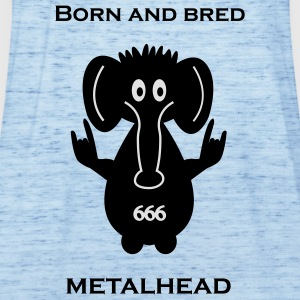 Born and bred metalhead classic logo Pullover & Ho - Women's Tank Top by Bella