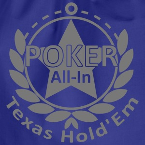 poker allin texas holdem T-Shirts - Drawstring Bag