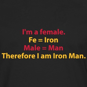 182_i_am_a_female_i_am_iron_man Tee shirts - T-shirt manches longues Premium Homme