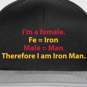 182_i_am_a_female_i_am_iron_man Tee shirts - Casquette snapback