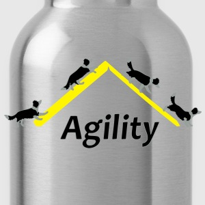 Agility 4x Border Collie T-shirts - Drikkeflaske