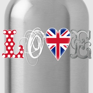 Love UK White T-Shirts - Water Bottle