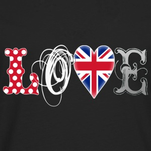 Love UK White - Männer Premium Langarmshirt