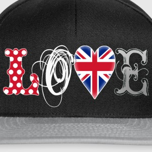 Love UK White T-Shirts - Snapback Cap