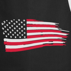 usa_flag_on_blue T-Shirts - Cooking Apron